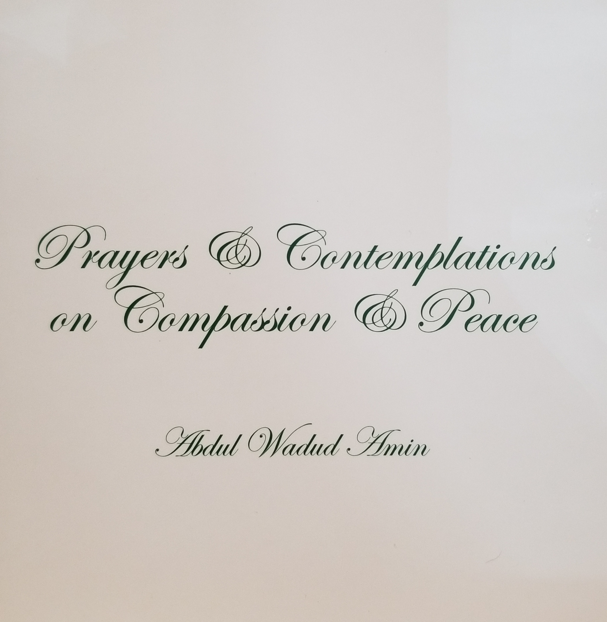 Prayers & Contemplation's on Compassion & Peace