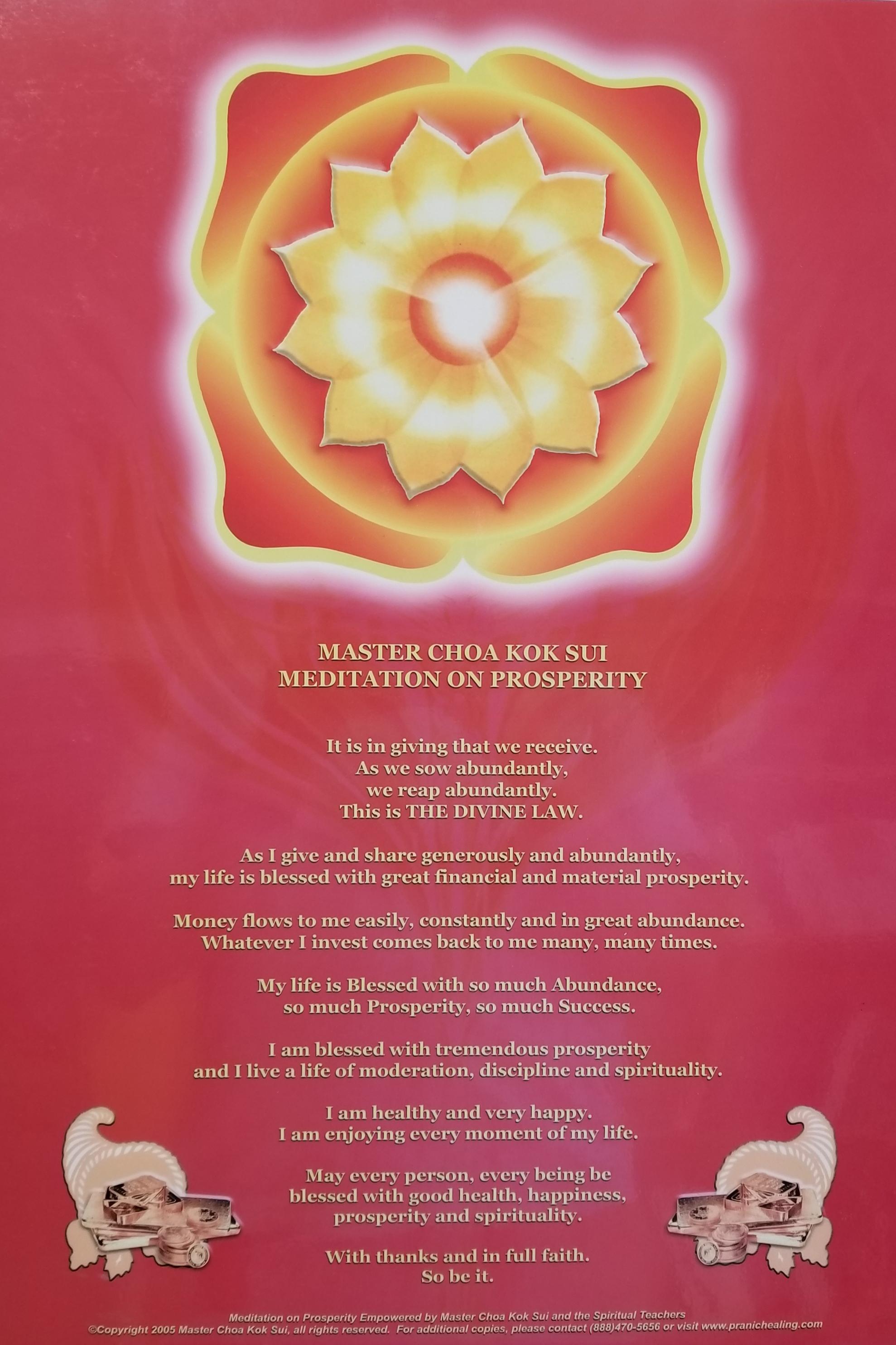 "Meditation on Prosperity Poster (13""x 19"")"