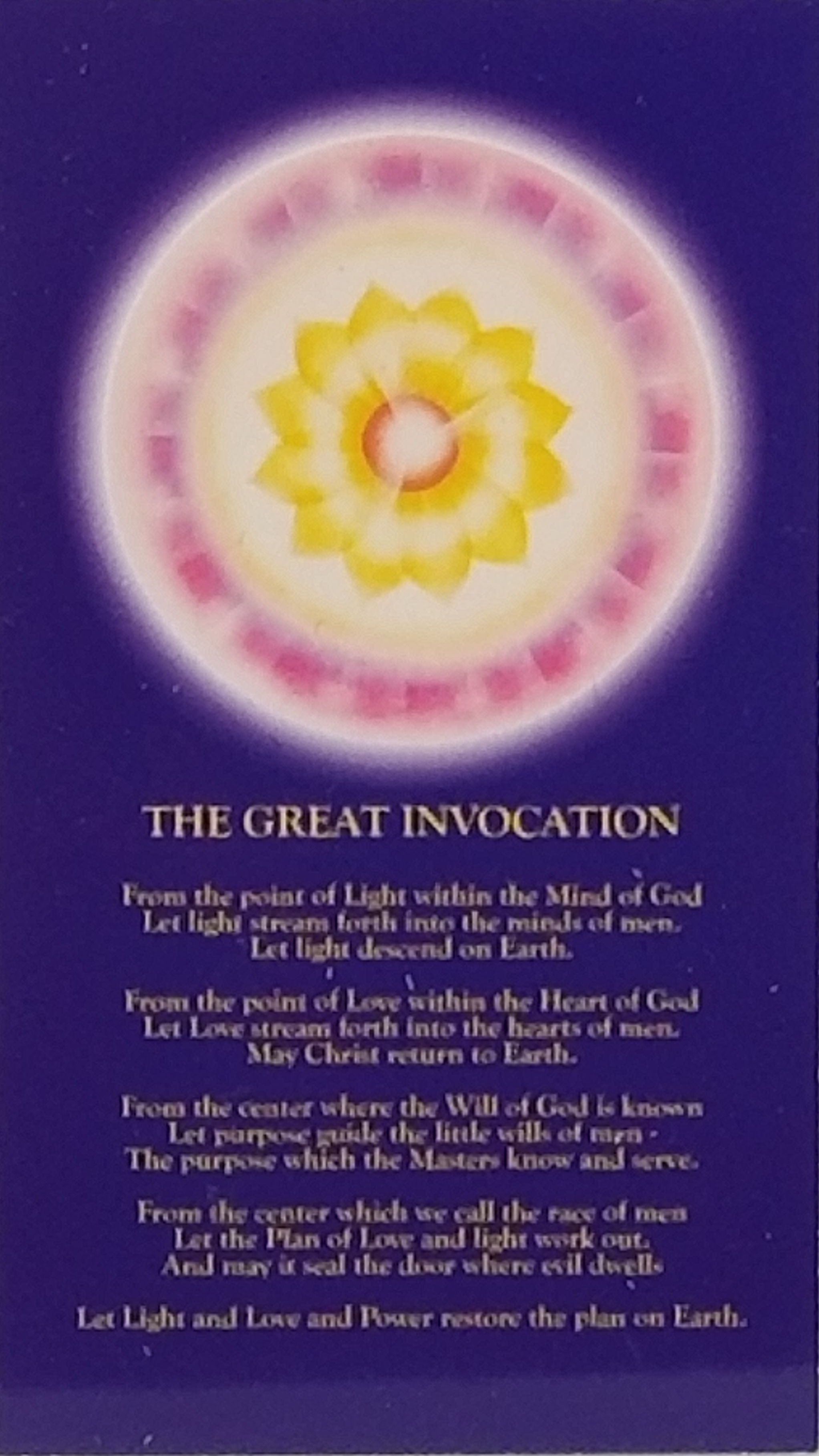 """The Great Invocation (13"""" x 19"""") (Consecrated by GMCKS)"""