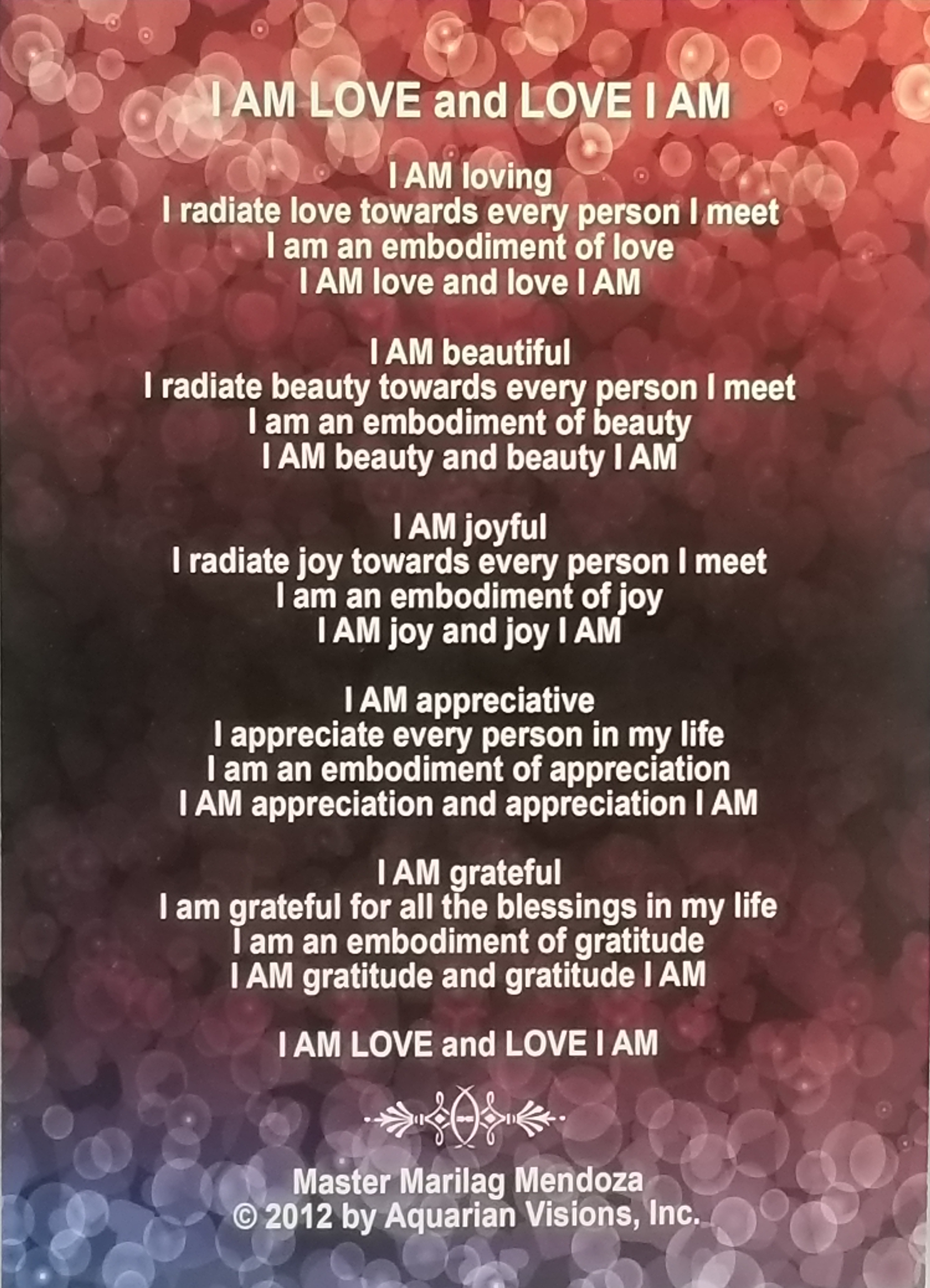 """I am Love and Love I am (5"""" x 7"""")"""